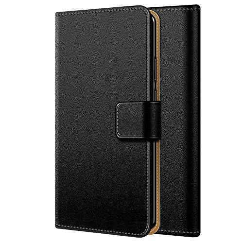 Conie BW6067 Basic Wallet Kompatibel mit HTC Desire Eye, Booklet PU Leder Hülle Tasche mit Kartenfächer & Aufstellfunktion für Desire Eye Case Schwarz