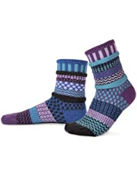 Solmate Socks - Odd or Mismatched Crew Socks for Women or for Men, Made with Recycled Cotton Yarns in USA
