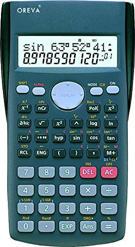 Buy Oreva Non-Programmable Scientific Calculator Calc 2-line Display and 200+ Functions (Grey-240) online in India at discounted price