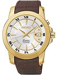 Reloj Seiko Premier Snq144p1 Hombre Blanco