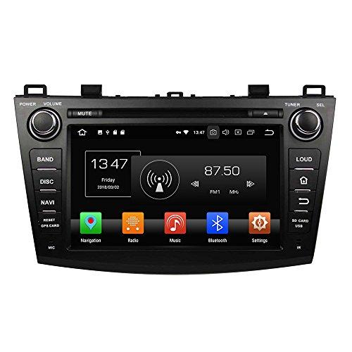 Android 8.0 Octa Core Autoradio Voiture GPS Lecteur Multimédia DVD Radio stéréo pour Mazda 3 2009 2010 2011 2012 soutient Commande au Volant avec 3 G WiFi Bluetooth sans Carte SD 8 G (Libre)