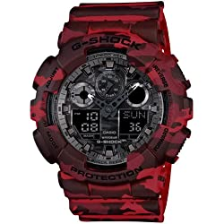 Casio G-Shock Analog-Digital Grey Dial Men's Watch - GA-100CM-4ADR (G579)