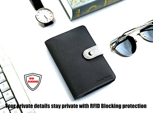 RFID Passport Holder Wallet Cover - Travel Document Passport Case for Women  Men a3a547b9b3ee