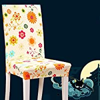 Beddingleer 6PCS Chair Seat Cover Removable Washable Dining Chair Covers Restaurant Slipcovers for Weddings Banquet Folding Hotel Decoration Decor (Style#11)