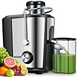 Juicer Machine, Aicook 600W Wide Mouth Juice Extractor Juicers for Whole Fruit and Vegetable, BPA-Free Food Grade Stainless Steel, Dual Speed Setting Centrifugal Juicer with Anti-drip Function