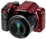 Samsung WB WB1100F DSLR Kamera Kit 16,2 MP CCD (Ladentransfer) 4608 x 3456 Pixel rot - Digitalkameras (16,2 MP, 4608 x 3456 Pixel, CCD (Ladeübertragung) 35x, HD, rot)