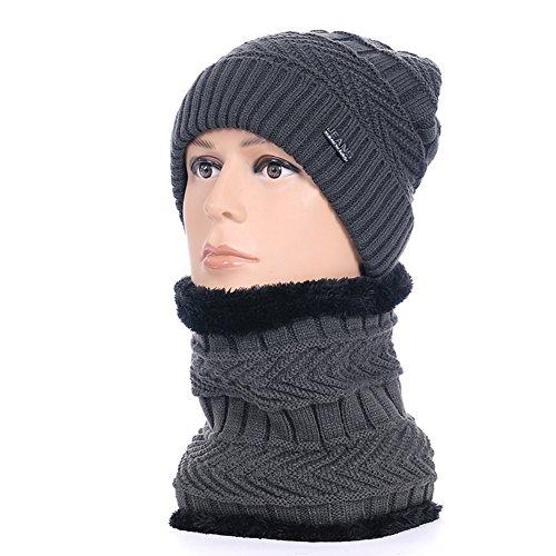 Inverno e cashmere calda lana cappello/Berretto a maglia allaperto/Orecchio-baotou cappello uomo-A Unica