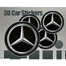 Mercedes Schwarz Aufkleber fur Felgendeckel NabenDeckel Nabenkappen 55mm