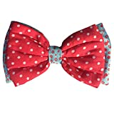 #6: Dog Bow Tie by Lana, Quirky & Cool Dog Fashion Accessory with Easy to use Adjustable Strap (Medium-Large) - Red Polka