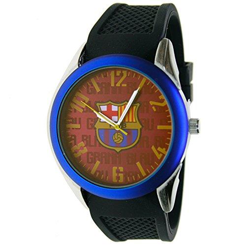 Reloj analógico de caballero F.C.BARCELONA – Bisel azul – Escudo F.C.Barcelona