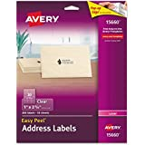 Avery Easy Peel Clear Address Labels for Laser Printers, 1 x 2.625, Pack of 300 (15660)