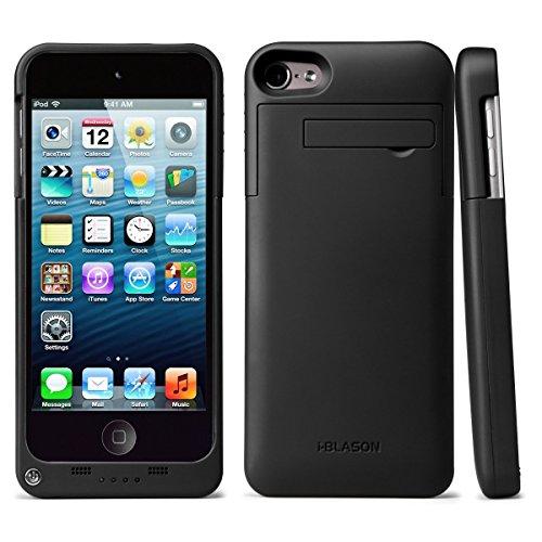Apple iPod Touch 5. Generation / 6. Generation Akkuhülle , i-Blason 2200 mAh Externe Batterie Akku Case Hülle , Ladegerät , Powerbank , Ladehülle [Apple MFi Zertifiziert] (5 Ipod-hüllen Generation)