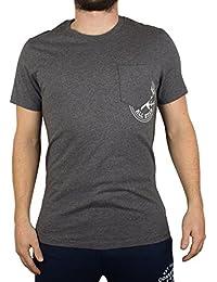Converse Homme T-shirt Hidden Logo de poche, Gris