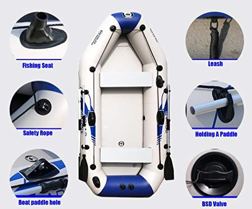 Dubaobao barca a carica inferiore in lega di alluminio, barca a remi-motoscafo gonfiabile-gommoni-fondo rigido resistente all'usura addensato, zattera gonfiabile e paddle gratuiti,3.0m