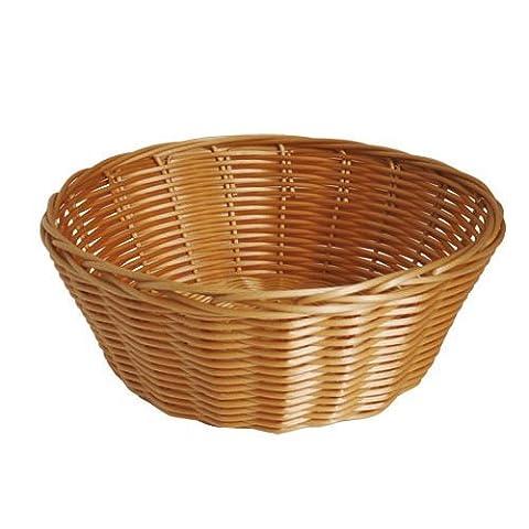 JVL Polyrattan Weaved Dishwasher Safe Basket, Round - 23 x