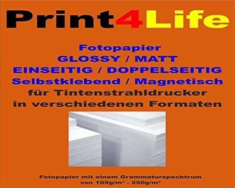 5 sheets of A4 MAGNETIC Glossy Photo Paper Glossy; Unidirectional
