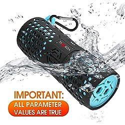 Enceinte Bluetooth Portable sans Fil étanche Flottant Tingda Portable Bluetooth Haut-Parleur 12W IP67 avec Support de Batterie 1000mAh Mains Libres et AUX-Noir et Bleu