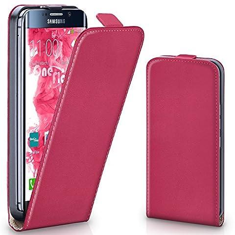 Pochette OneFlow pour Samsung Galaxy S7 Edge housse Cover magnétique   Flip Case étui housse téléphone portable à rabat   Pochette téléphone portable téléphone portable protection bumper housse de protection avec coque en BERRY-FUCHSIA