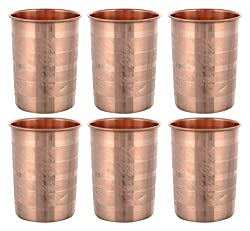 Frestol Copper Water Glasses, 6-Piece, 200 ml, Brown