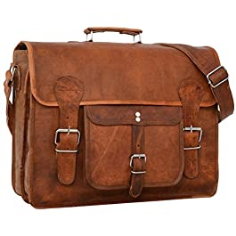 """Borsa a tracolla Gusti Leder""""Leon"""" borsa ventiquattrore Borsa per laptop in vera pelle marrone"""