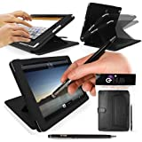 iPad 2/3/4 Case - G-HUB DynamicDisplay Luxury Multi-Angle Stand Case - BLACK Cover Folio for iPad 4 / iPad 3 / iPad 2 - Includes BONUS G-HUB ProPen Stylus