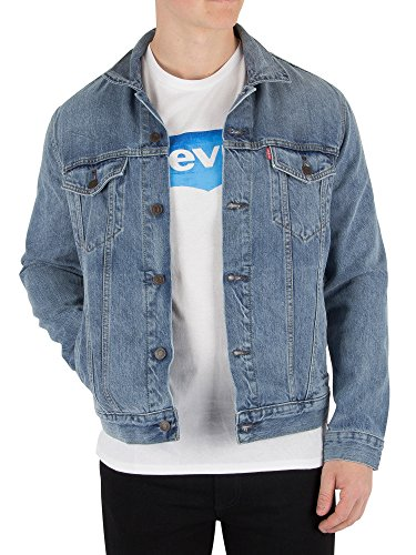 Levi's The Trucker Jacket, Chaqueta Vaquera para Hombre, Azul (Icy 0146), Medium