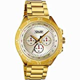 D&G Dolce&Gabbana Herren-Armbanduhr PAMPELONNE CHR IPG LIGHT GOLD DIAL IPG