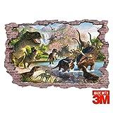 Sticker mural Dinosaures : Bienvenue à Jurassic Park. Sticker mural de qualité 3M(tm). Autocollant XXL (90 x 60 cm)
