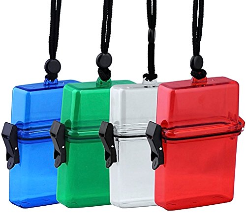 Beauty*Top*Picks New Camping Waterproof Plastic Money Storage Bo Container Storage Box Case Holder