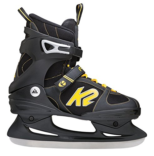 K2 Schlittschuhe Fit Ice Herren Schlittschuhe, Schwarz-Gelb, 47 EU (12.5 US), I150300501