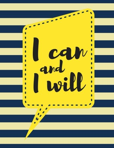 i-can-and-i-will-pale-yellow-stripes-100-pages-ruled-notebook-journal-diary-large-85-x-11