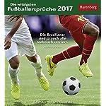 Die witzigsten Fußballersprüche - Kalender 2017: Kalender mit 12 Postkarten