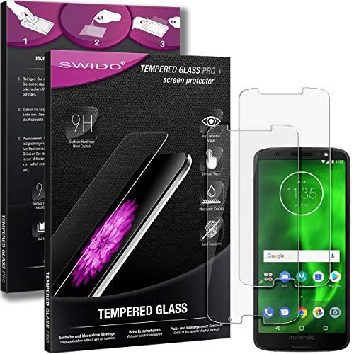 SWIDO Panzerglas Bildschirmschutzfolie kompatibel mit Motorola Moto G6 Plus (2 Stück) - 9H Panzerglas Folie, HD, Panzerfolie, Tempered Glass Schutzglas, Schutzfolie, Glas, Bildschirmschutz, Ultra-Clear