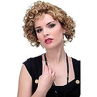 WIG ME UP ® - GF-W2182-15H12 Peluca mujer calidad corto rizos rizado