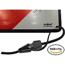 MAGMA Pack 4 Tensores Elásticos, Pulpos para Sujetar Señal V20, Portabicicletas, Ojales,
