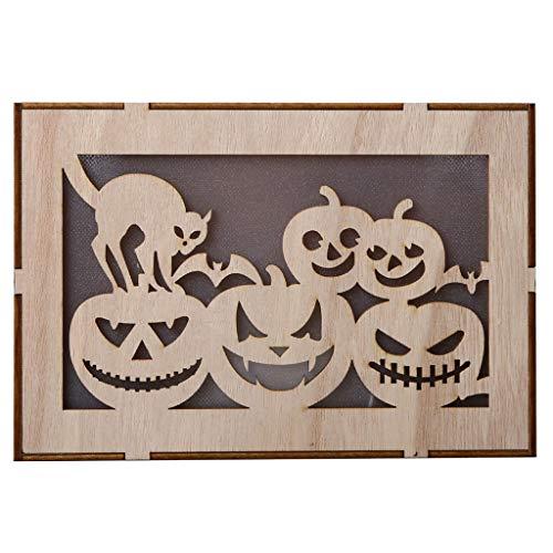 Kürbis Ausschnitte - VNEIRW Holz Halloween runde Ausschnitte Kürbis