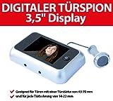 Intersteel Digitaler Türspion, mit extragroßem 8,9 cm Display und Türkamera für 38 bis 72 mm dicke Türen