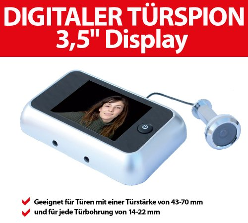 "Digitaler Türspion mit extra großem 3,5"" Display"