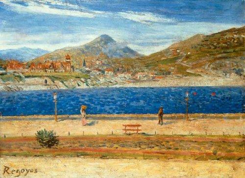 Kunstdruck/Poster: Dario Regoyos y Valdes Playa de San Sebastian - hochwertiger Druck, Bild, Kunstposter, 90x65 cm