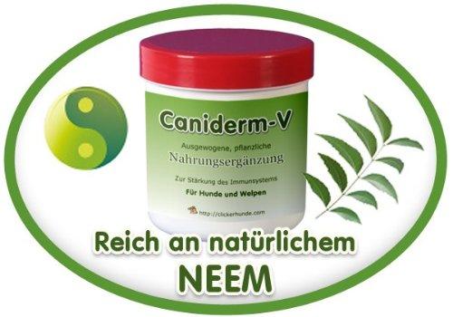 Caniderm-V, Nahrungsergänzung, für Hunde, bei Hautproblemen, Milben, Ekzemen, Allergien (Einzelpackung) -