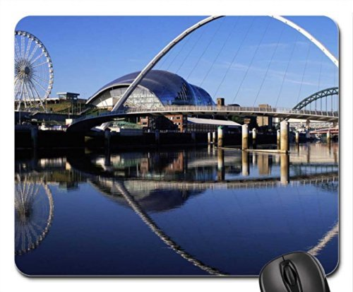 reflection uk gateshead millennium bridge england Mouse Pad, Mousepad (Bridges Mouse Pad)