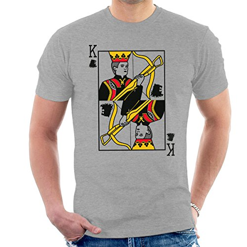 King Joffrey Playing Card Game Of Thrones Men's T-Shirt Heather Grey