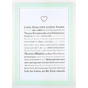 Hochzeitsgeschenk für Brautpaar - Bild / Kunstdruck als Gastgeschenk zur Hochzeit | Geschenk für Trauzeuge / Trauzeugin...