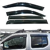 Nissan Navara ventana Deflector visera Vent Guardia Sombra Sol Visera Negro 2011–2015