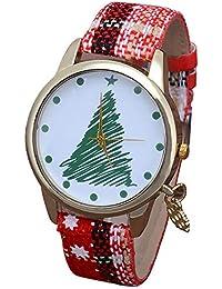 Hffan Damen Mädchen Elegant Quarzuhr Weihnachts-Serie Schneeflocke Weihnachtsbaum Weihnachtsgeschenk Weihnachtsuhr Modisch Armbanduhren für Frauen
