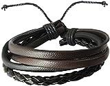 #9: Rich & Famous Black Leather Bracelet For Men