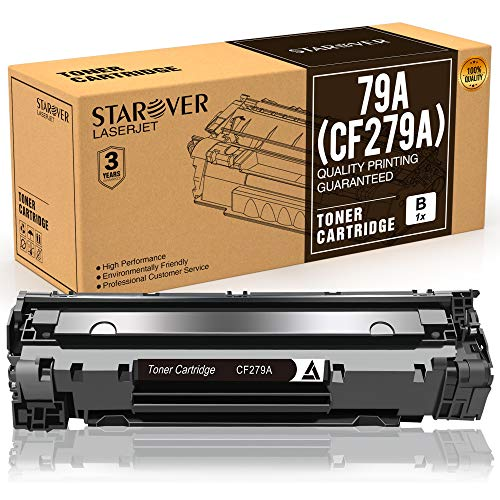 STAROVER 1x CF279A (79A) / CF 279A Cartucho De Tóner Negro Compatible Para HP LaserJet Pro MFP M26 M26nw M26a HP LaserJet Pro M12 M12w M12a Impresora (1000 Páginas Por Negro)