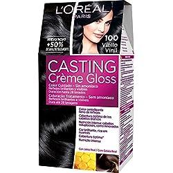 L'Oreal Paris Casting Créme Gloss Coloración Sin Amoniaco, Tono: 100 Black Lico