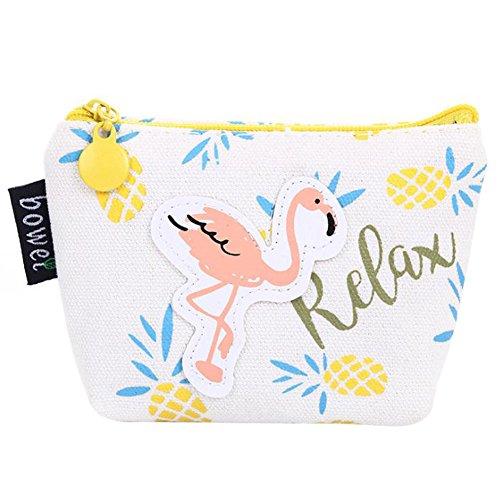 LAAT Flamingo handtasche geldbeutel schlüssel beutel kreative mustern flamingos kleine brieftasche kinder geschenk unisex