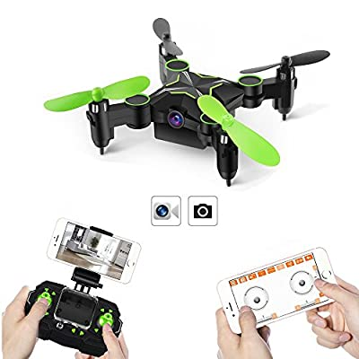 GizmoVine 901H RC Drone with Camera 0.3MP FPV 6-Axis 2.4GHZ with 3D Rolling Altitude Hold Headless Mini Foldable Remote Control Quadcopter Drone